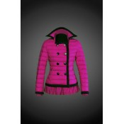 2017 Outlet Piumini Moncler Donna Fuxia Nuovo Arrivo