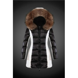 2017 Outlet Piumini Moncler Donna Nero E Bianco Outlet
