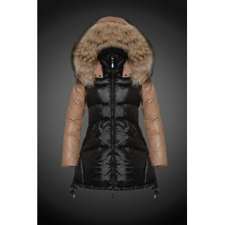 2017 Outlet Piumini Moncler Donna Nero Outlet Italia