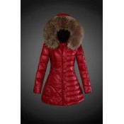 2017 Outlet Piumini Moncler Donna Rosso Italia