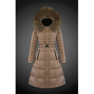 2017 Outlet Piumini Moncler Lungo Donna Cammello Outlet Pizza
