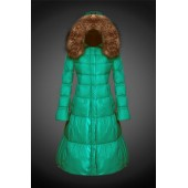 2017 Outlet Piumini Moncler Lungo Donna Verde Milano Negozi