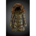 2017 Piumini Moncler Donna Camouflage Firenze
