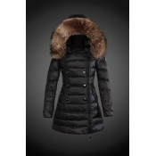 2017 Piumini Moncler Donna Nero Outlet Firenze