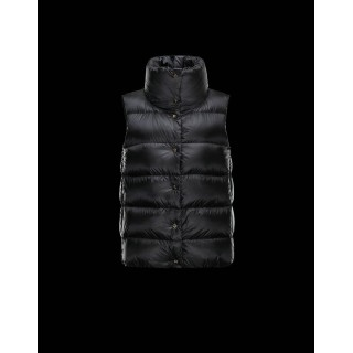 Gilet Moncler Donna Sources Nero Outlet