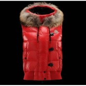 Gilet Moncler Donna Tarn Rosso In Offerta
