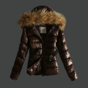 Moncler Donna Angers Marrone Negozi Milano