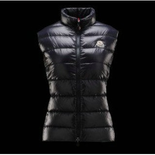 Moncler Gilet Donna Ghany Blu Scuro Outlet Napoli