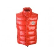Moncler Quilted Body Warmer- Rosso Online Scontati