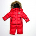 Outlet 2017 Piumini Moncler Bambini Set Rosso