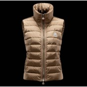 Outlet Gilet Moncler Donna Masae Marrone
