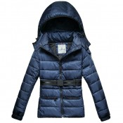 Piumini Moncler Angers Donna Blu Outlet Firenze