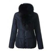 Piumini Moncler Donna Lievre Blu Scuro Outlet Toscana