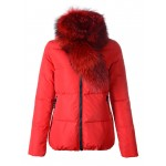 Piumini Moncler Donna Lievre Rosso Outlet Napoli