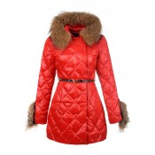 Piumini Moncler Donna Lungo Rosso Outlet