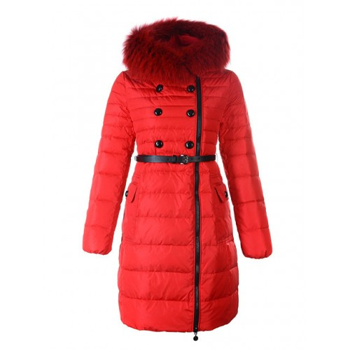 newest collection 21af1 e6ea8 Piumini Moncler Donna Lungo Rosso Vendita On Line
