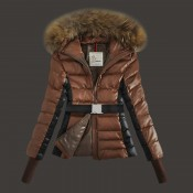 Piumini Moncler Nuovo Moncler Cinture Donna Marrone Outlet Online