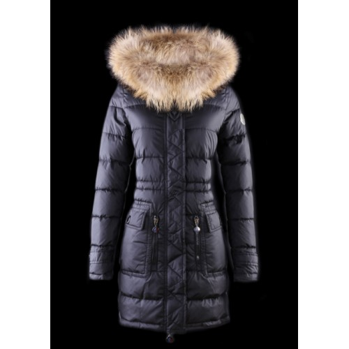 huge selection of b76f1 cdf23 Piumini Moncler Nuovo Moncler Donna Lungo Navy Online Outlet