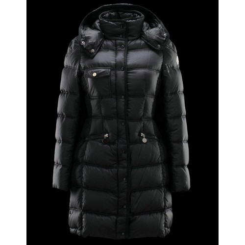 newest 87108 c03eb Piumini Moncler Nuovo Moncler Donna Lungo Nero Outlet Roma