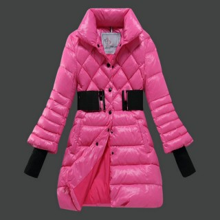Piumini Moncler Nuovo Moncler Donna Lungo Rosa Outlet Firenze