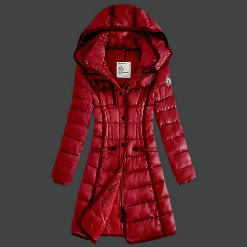 best service b7dcf 39006 Piumini Moncler Nuovo Moncler Donna Lungo Rosso Online Shop ...