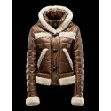 Piumini Moncler Nuovo Moncler Donna Marrone Ufficiale Shop Online