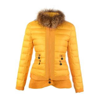 Piumini Moncler Orlo Gonna Giallo Outlet Sicilia