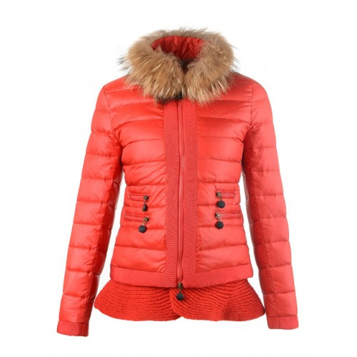online store a3b04 04739 Piumini Moncler Orlo Gonna Rosso Outlet Napoli
