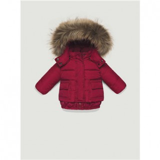 Shop Online Piumini Moncler Bambini Rosso